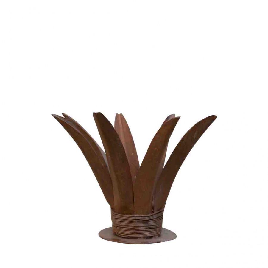 Candelabro ferro ruggine ananas