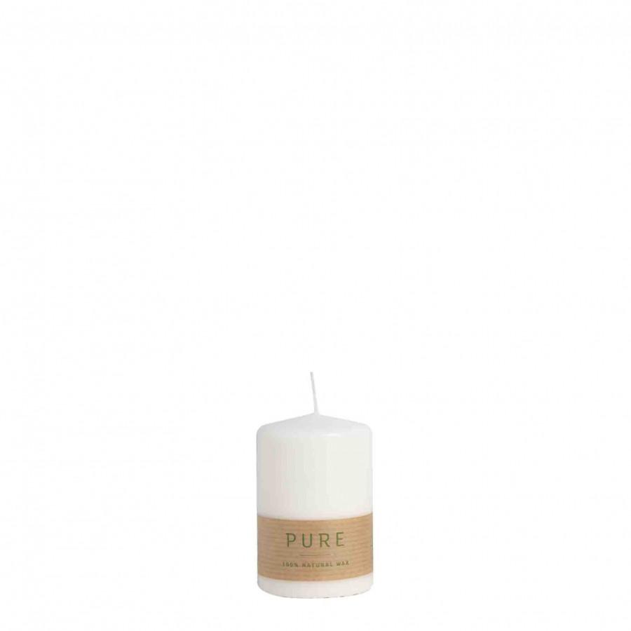 Bougie blanche 100% naturelle earth-friendly d6 h9 cm