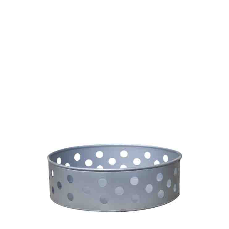 Zinc tray with holes d25 cm