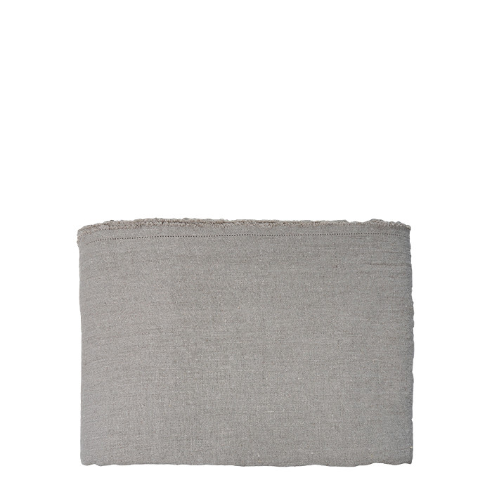 100% linen bedspread with fringes 270x270 cm