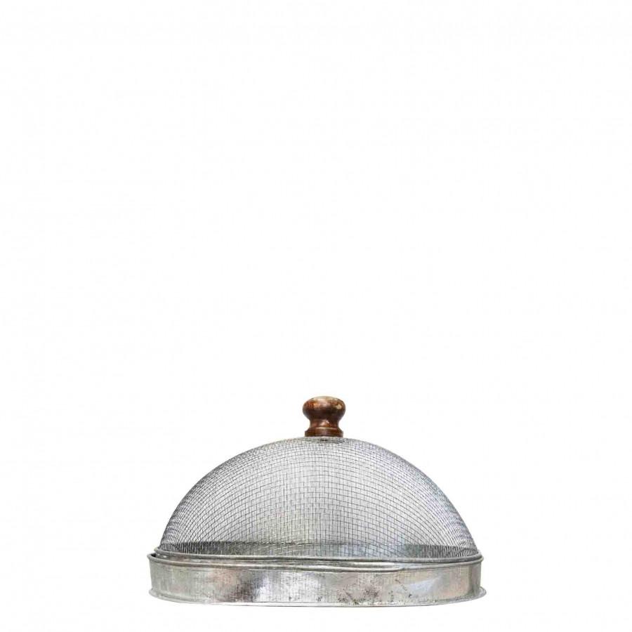 Couvre-plat en zinc avec base 14x24 h15 cm