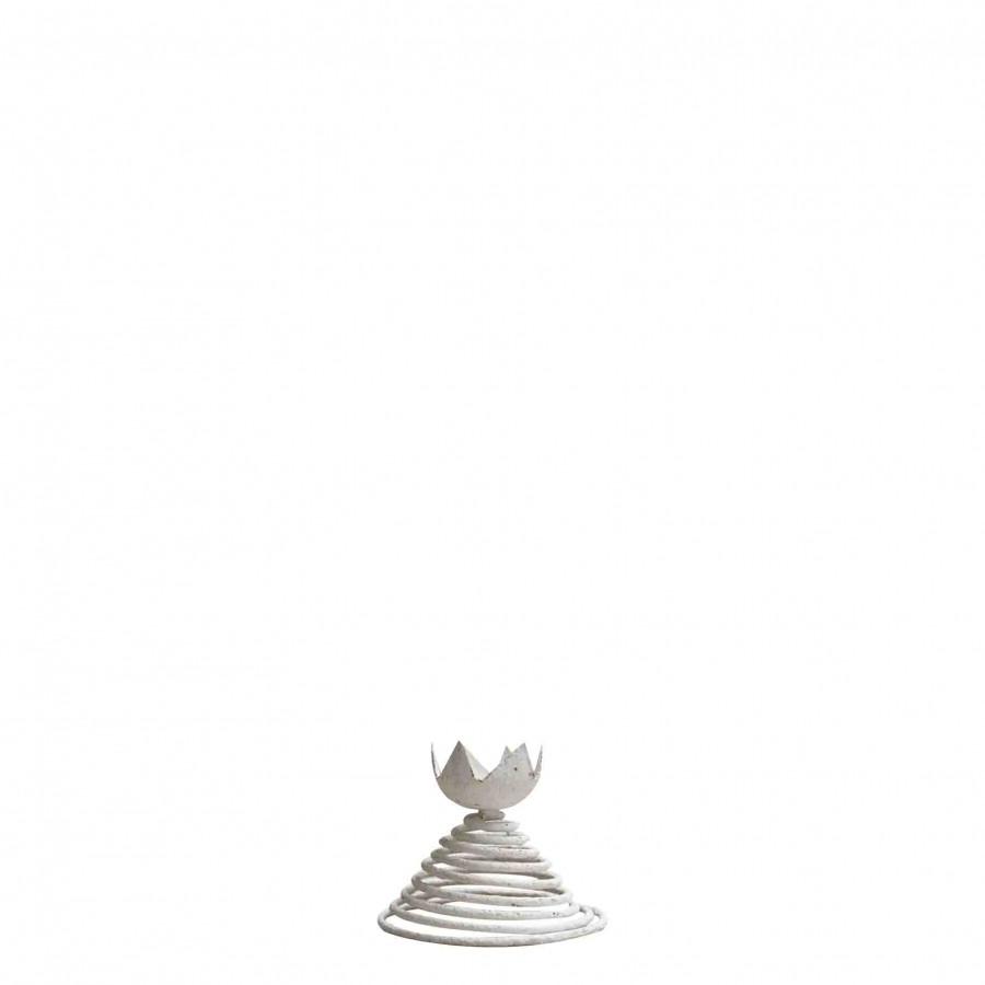 Coquetier en fer blanc rouille d10 h8.5 cm