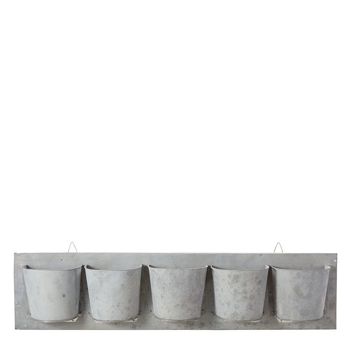 Struttura orizz.5 vasi latta 105x27