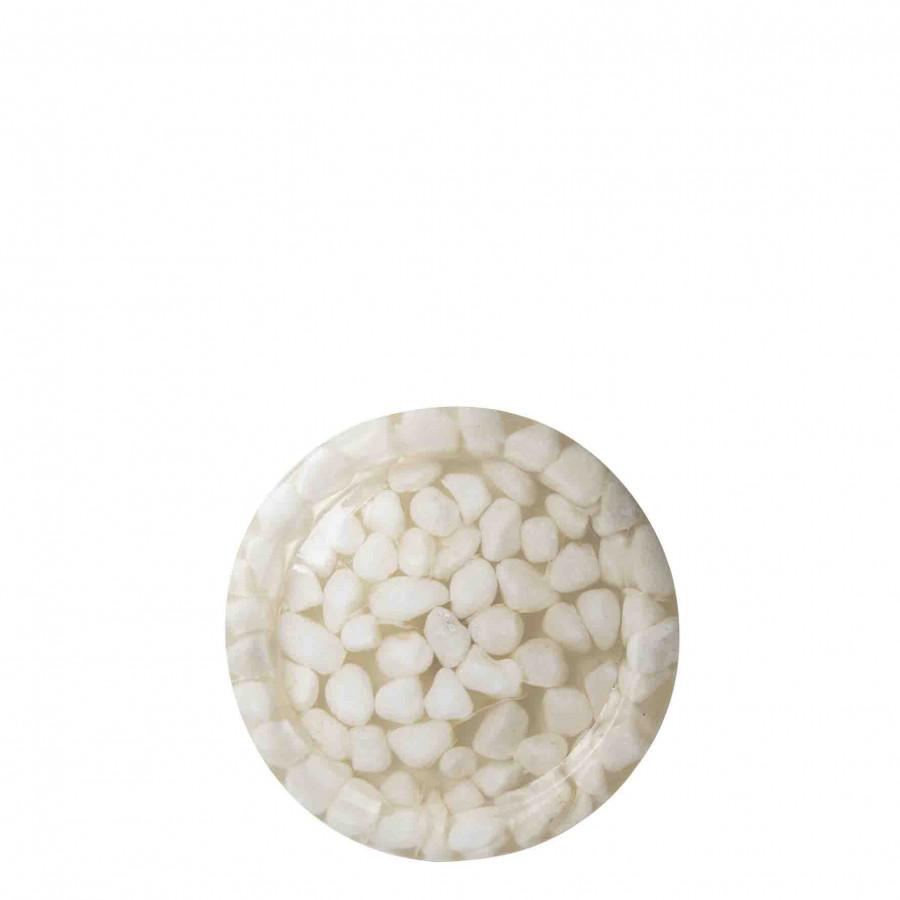 Piatto sassi resina panna d20 cm