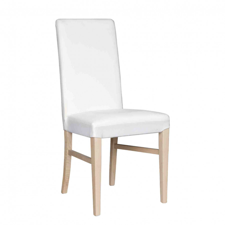 White wooden padded chair without lining 45x45 h97 cm