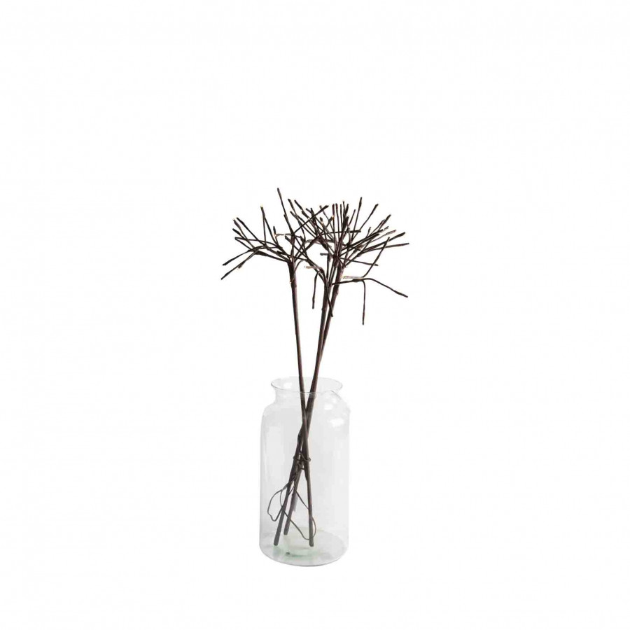 Dandelion lighting branch (3 branches)with plug suitable for outdoor use h 76 cms