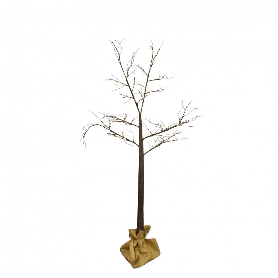Albero 120 led luminoso marrone interno/esterno d110 h210 cm
