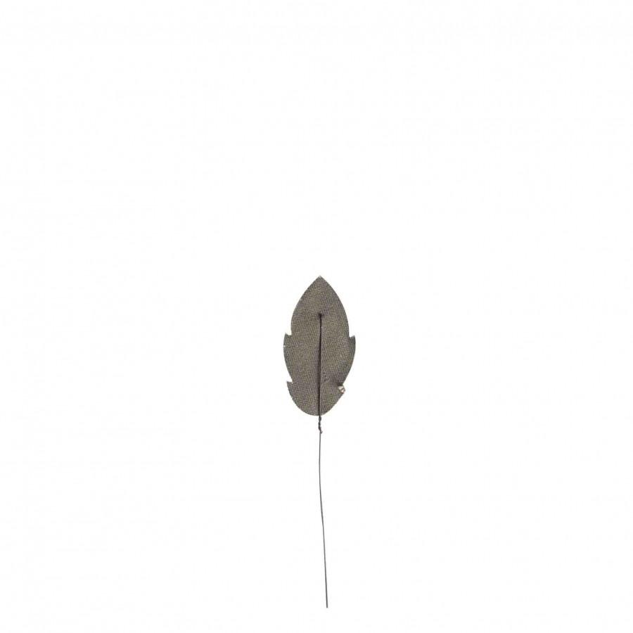 Foglia recycled cotton verde fatta a mano h18 cm