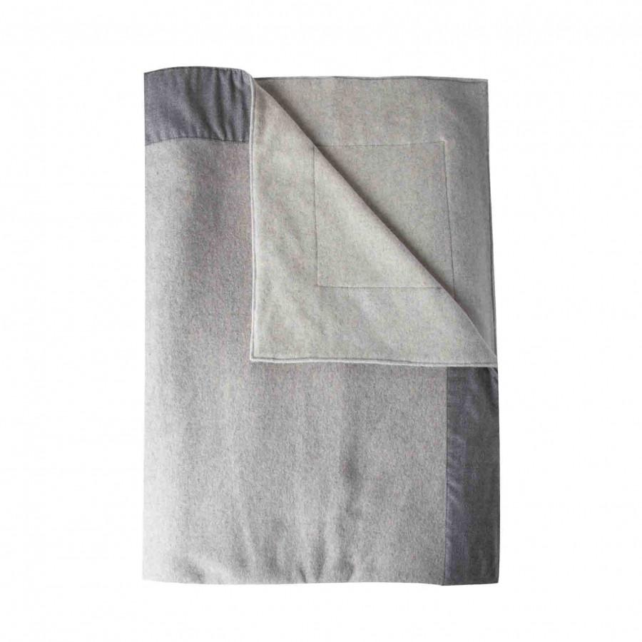 Coperta 100% cashmere grigia 280g/m2 230 x 250 cm
