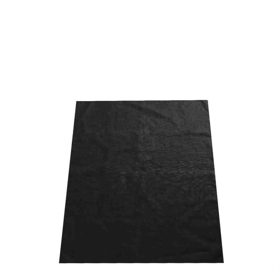100% black linen rug 50x70 cm