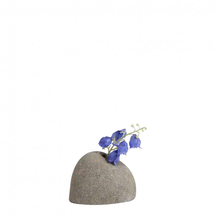 Fermacarte sasso monofiore grigio irregolare d9 h6 cm