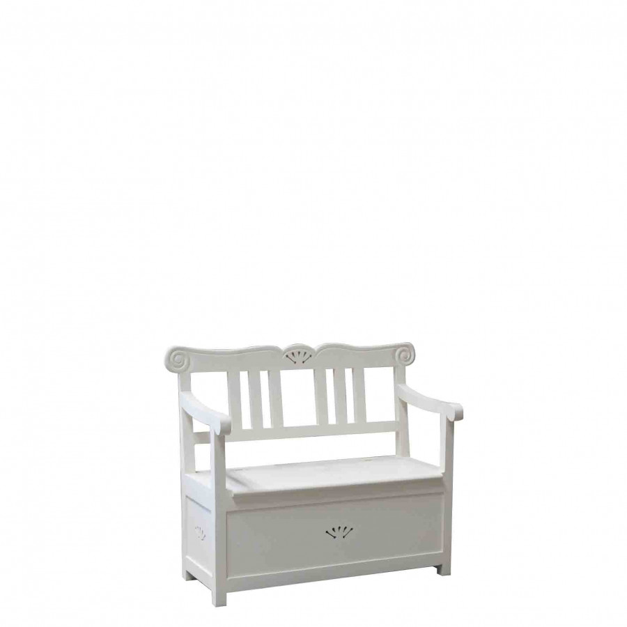 Openable white baby bench 80x40xh65 cm