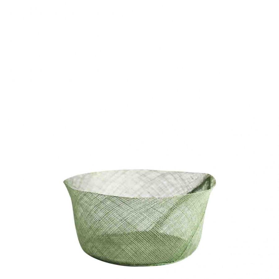 Big simple net bowl green colour d18 h8 cm