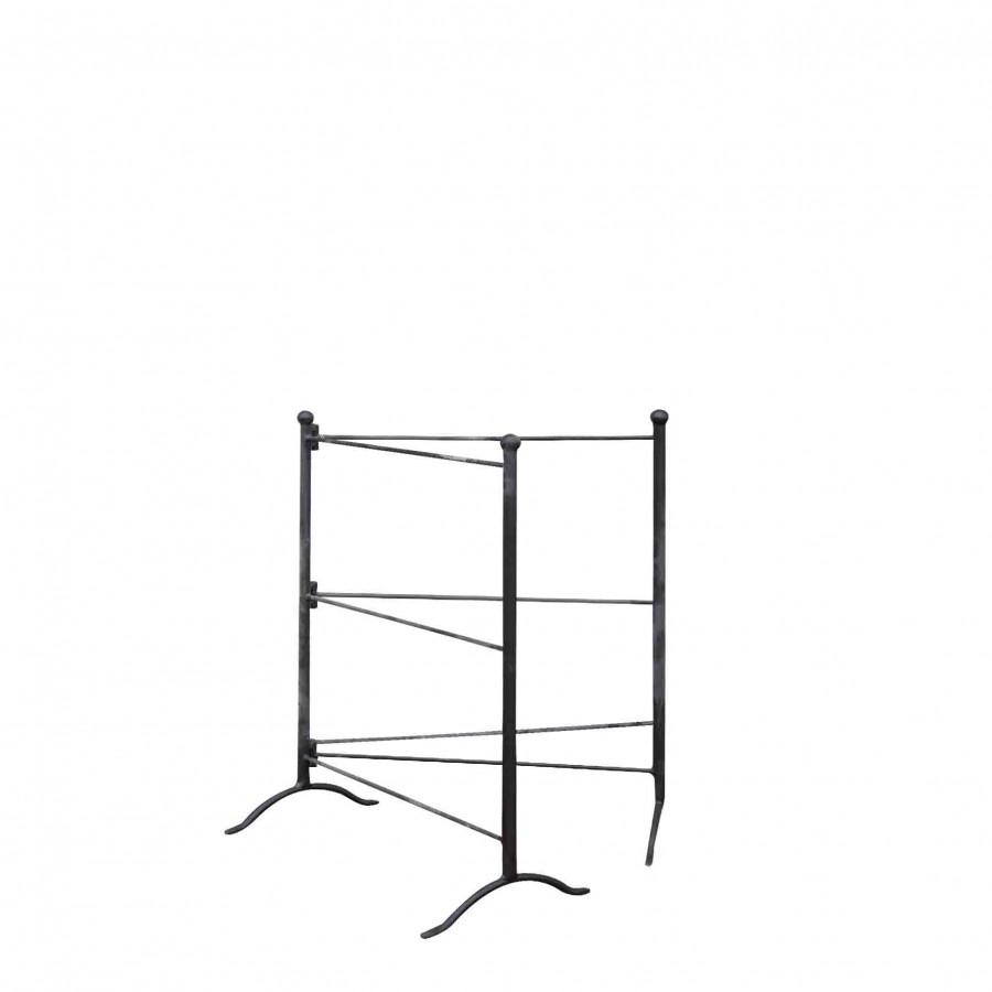Portasalviette doppio ferro nero pieghevole h80 cm