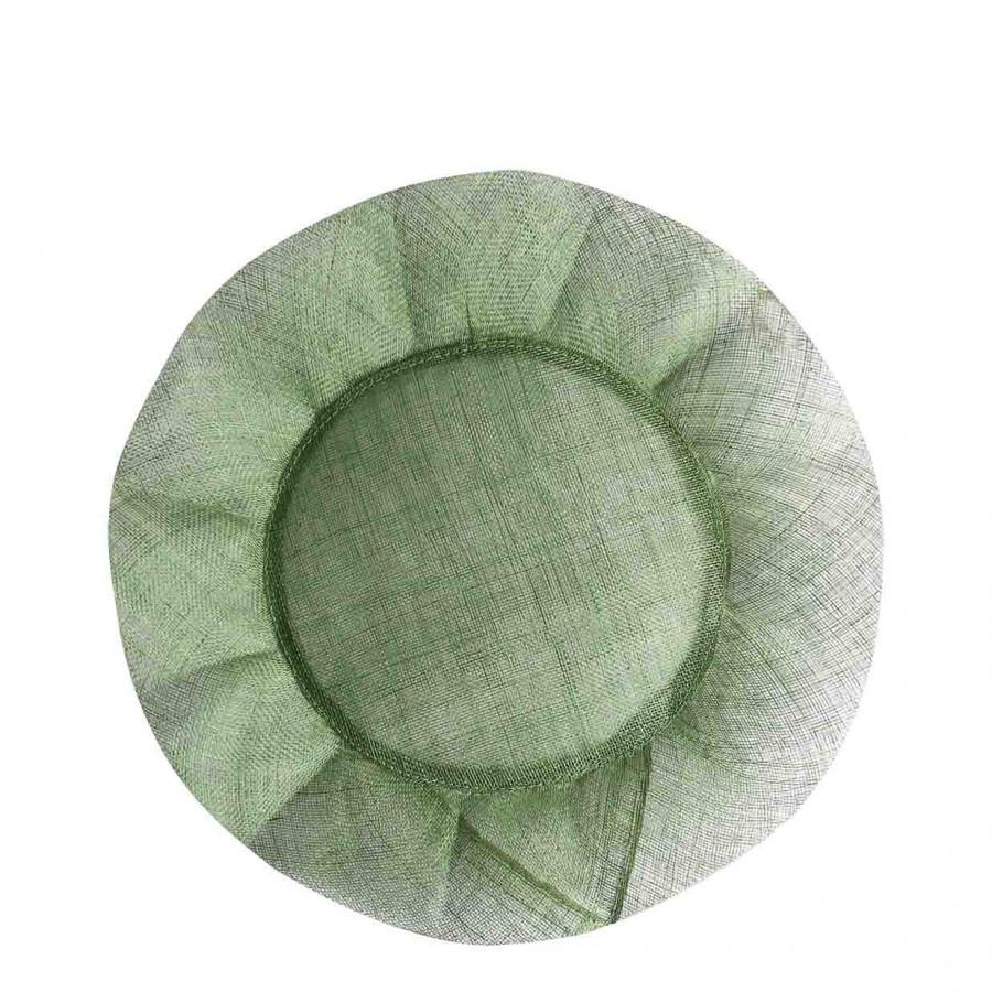 Grand sousplat volant couleur verte d35 cm