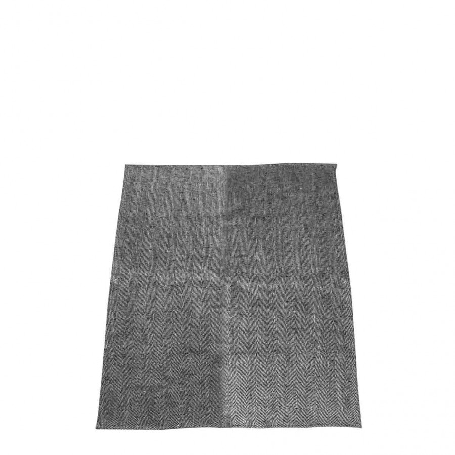 100% grey/black linen rag 47x70 cm