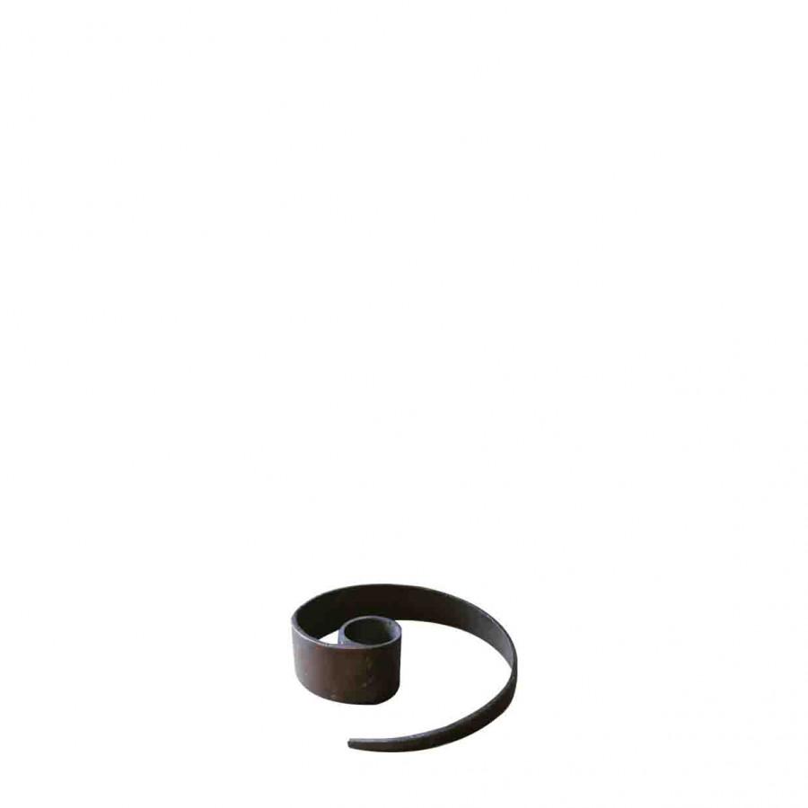 Bugia portacandela serpente ferro nero h3 cm