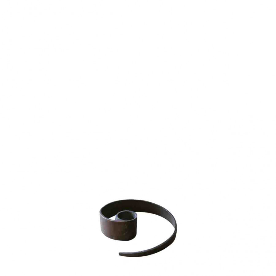 Porte-bougie en fer noir serpent h3cm