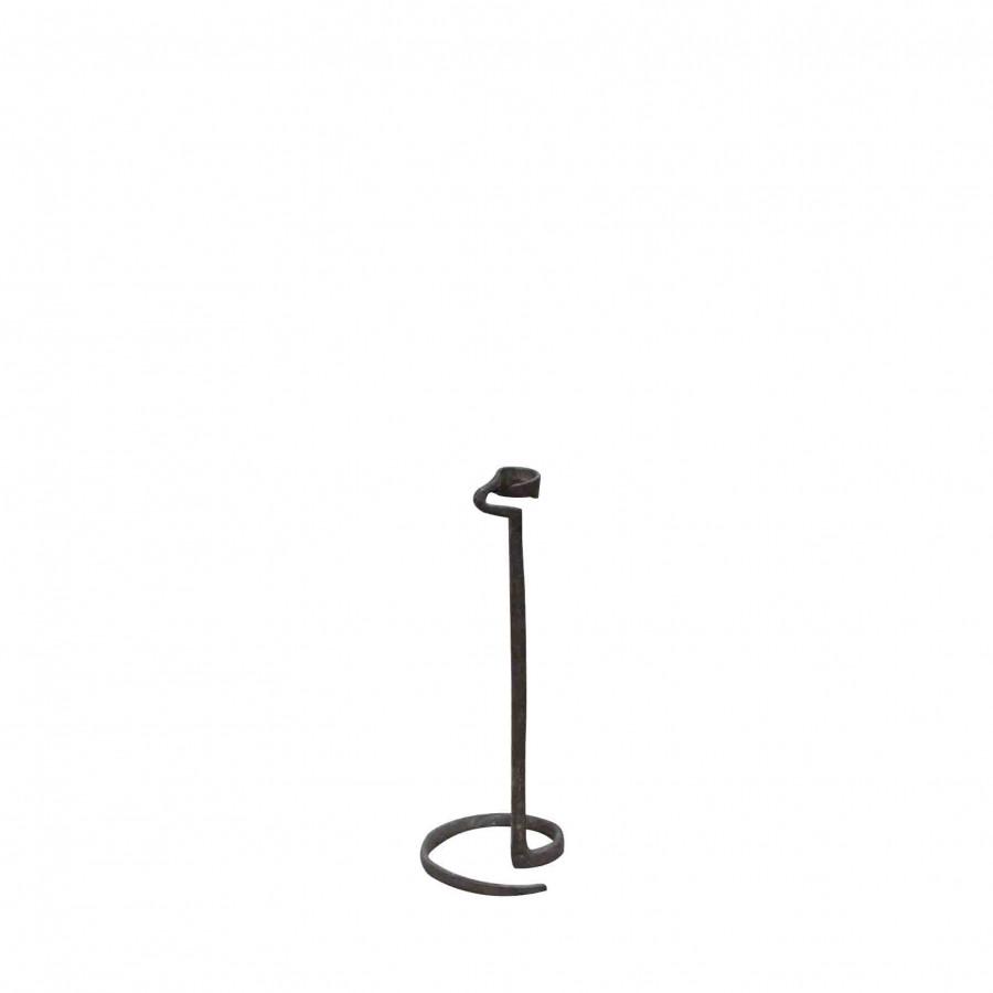 Candelabro serpente ferro nero h24 cm