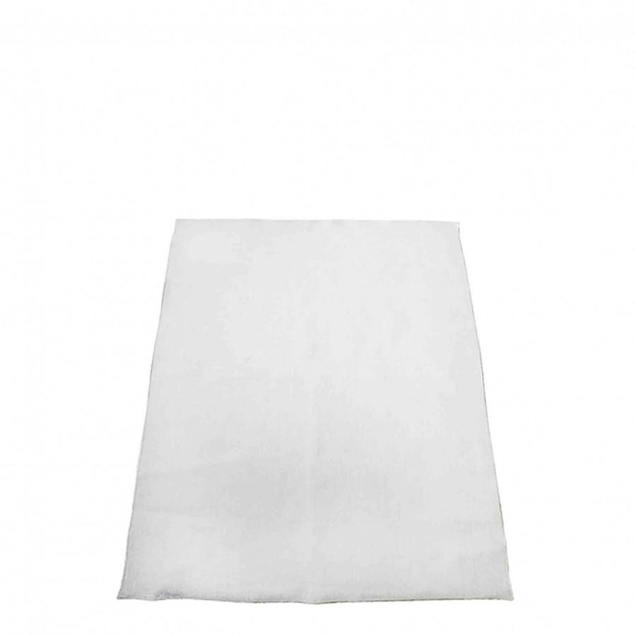 Torchon lisse 100%lin couleur blanc bord blanc 50x70 cm