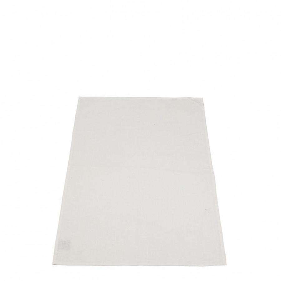 100%linen dishcloth cream color 50x70 cm