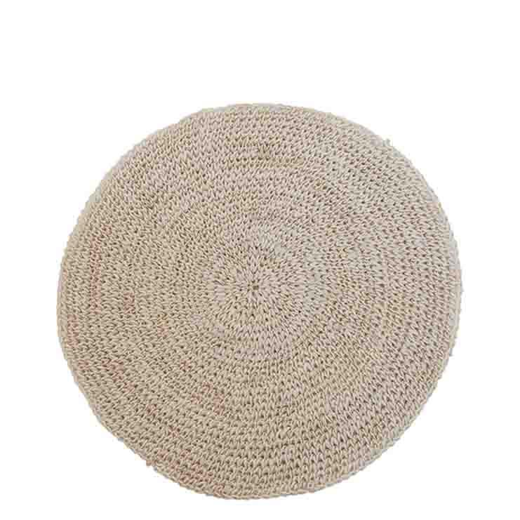 Sousplat trame crochet couleur blanche d35 cm