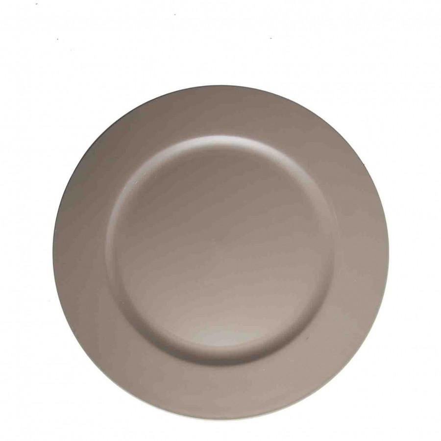 Sottopiatto in plastica warm grey antigraffio d33 cm