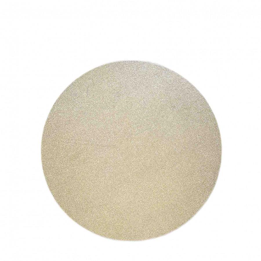 Paquet de 2 sous-plat rond dore paillete d32 cm