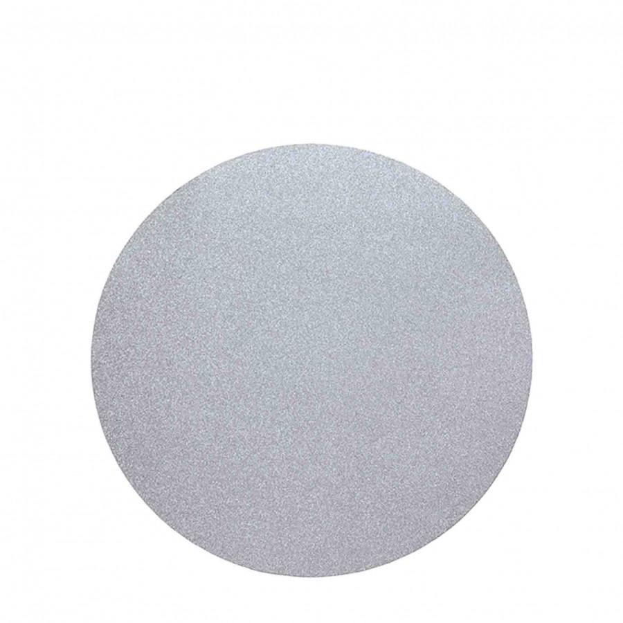 Paquet de 2 sous-plat rond argent paillete d33cm