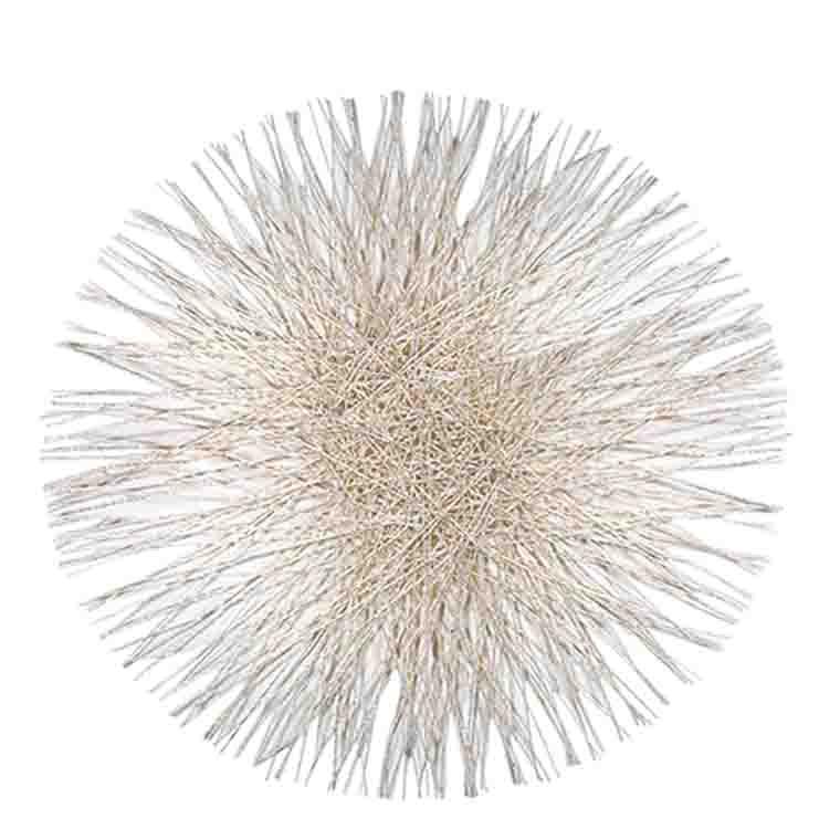 Sottopiatto soffione in abaca bianca d40 cm