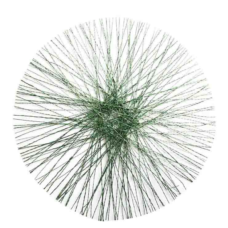 Sottopiatto soffione in abaca verde d40 cm