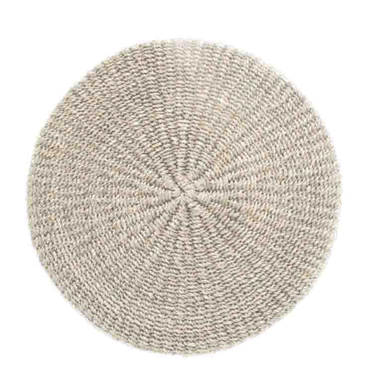 Set americain trame epaisse couleur blanche d38 cm