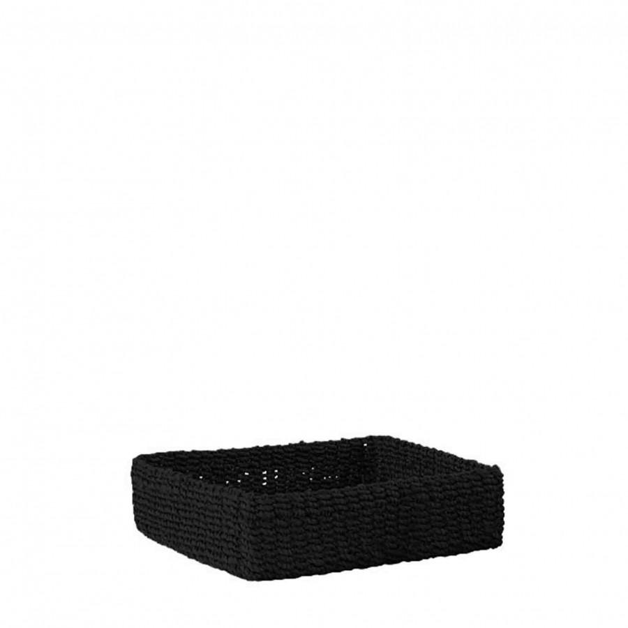 Porte-serviette rigide couleur noire 20 x 20 cm