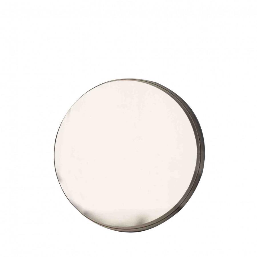 Miroir rond en acier d61 cm
