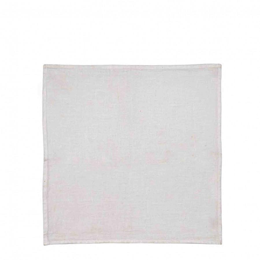 Serviette en 100%lin10 couleur blanc 40 x 40 cm