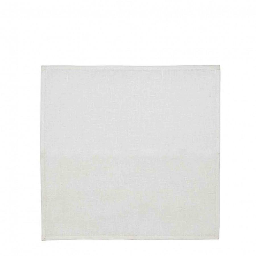 Serviette en 100%lin couleur off white (blanc) 40 x 40 cm