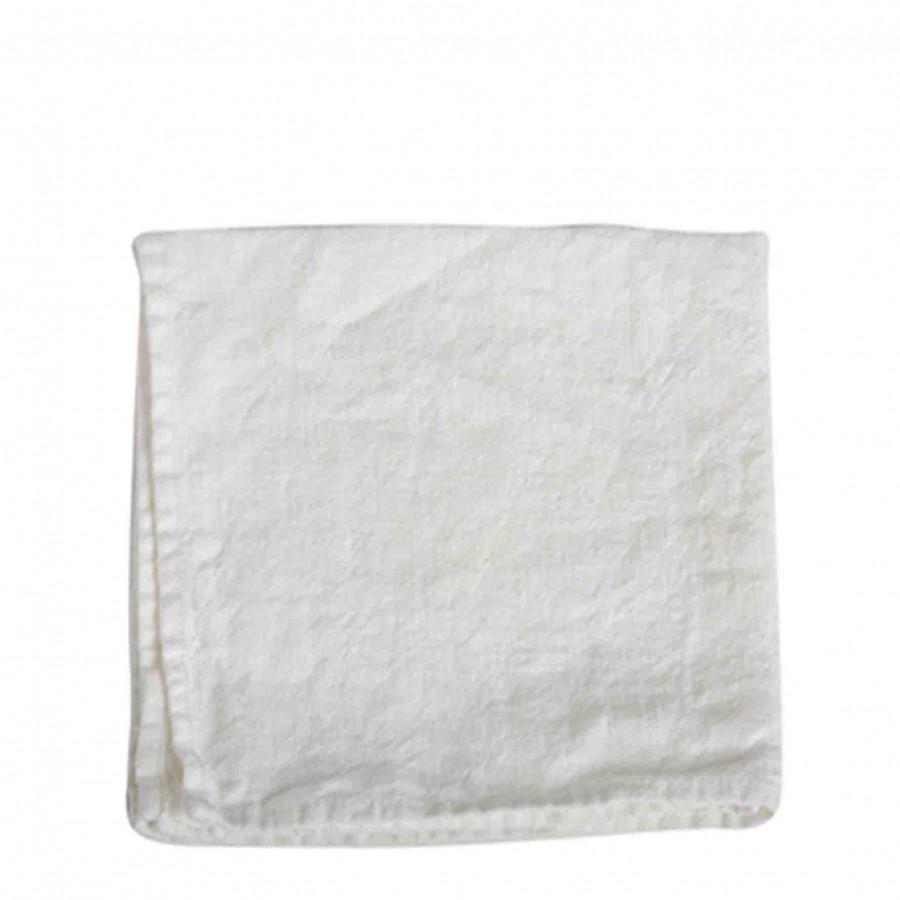 White 100% linen napkin 40x40 cm
