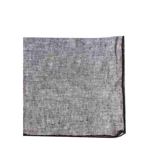 Serviette 100% lin melange gris avec bord noir 40 x 40 cm