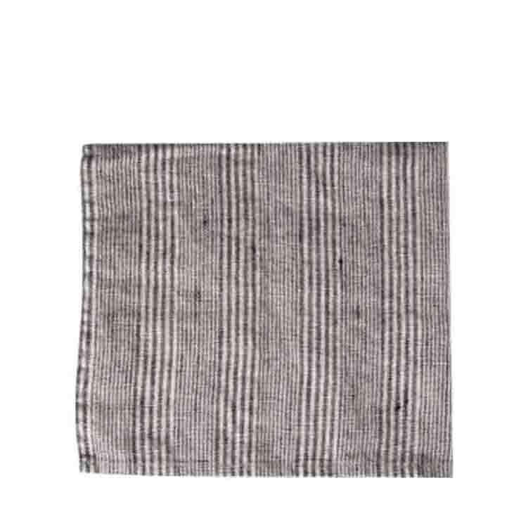 Serviette en 100% lin avec lignes noires 40x40 cm