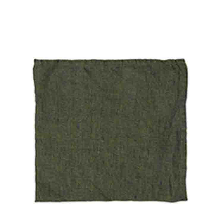 Serviette en 100% lin couleur vert 40 x 40 cm