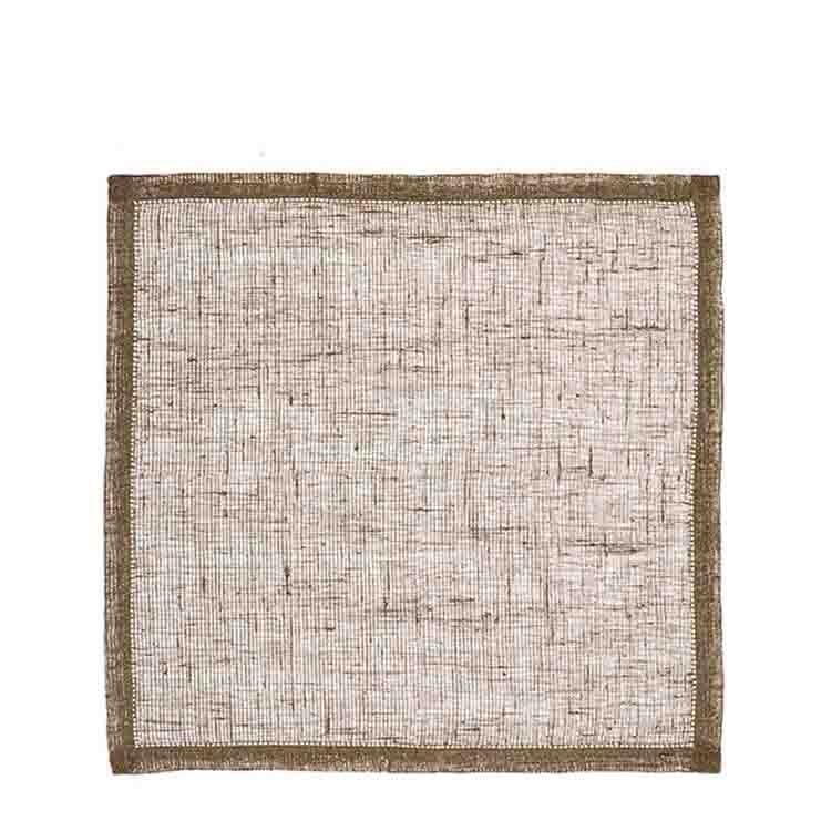 Tovagliolo 100% lino rete03 naturale orlo a giorno 45 x 45 cm