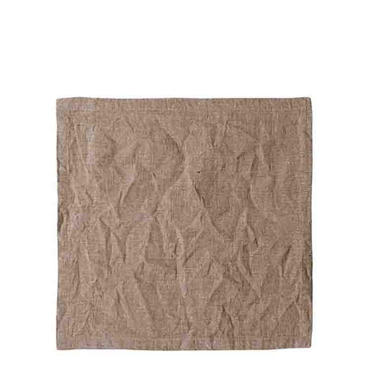 Serviette en 100%lin stonewash couleur naturel 40 x 40 cm