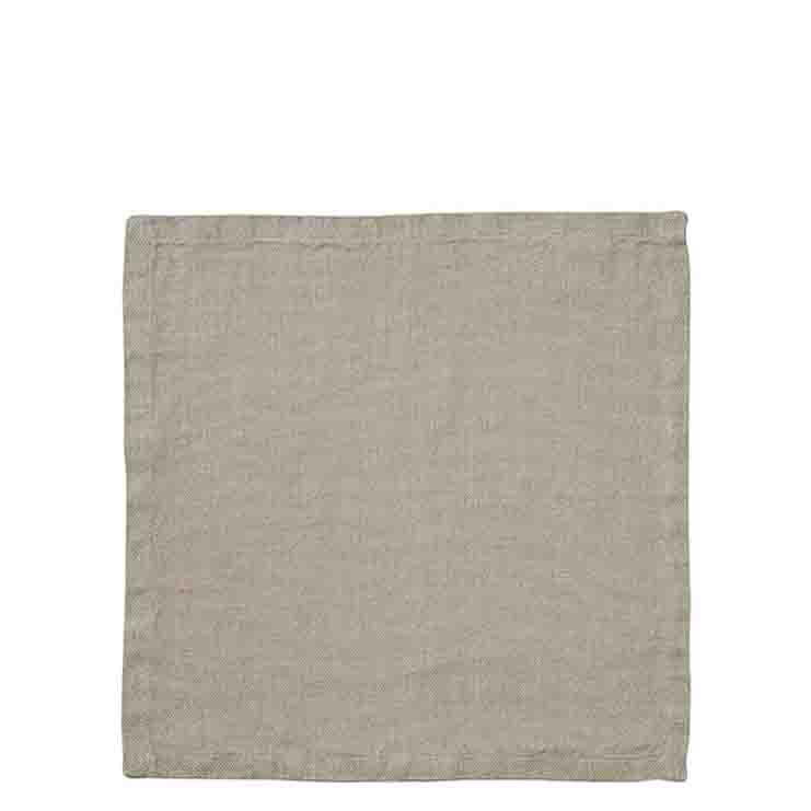 Serviette en 100%lin rustique couleur naturel 40 x 40 cm