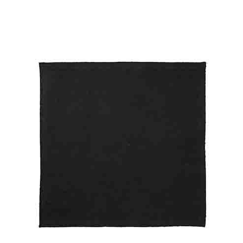 Serviette en coton noir point overlock 40 x 40 cm
