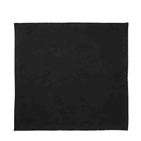 Serviette en coton noir point overlock 50 x 50 cm
