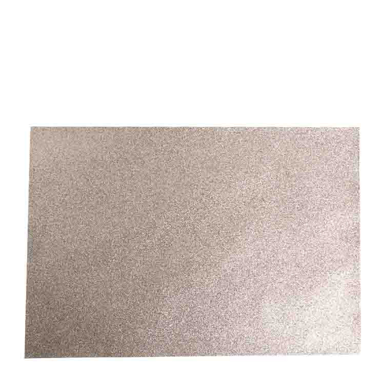 6 champagne glitter placemats 32 x 47 cm