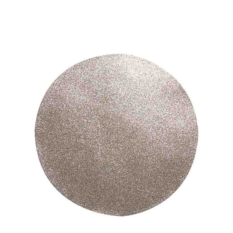 Confezione 2 sottopiatto tessuto glitter champagne d32 cm