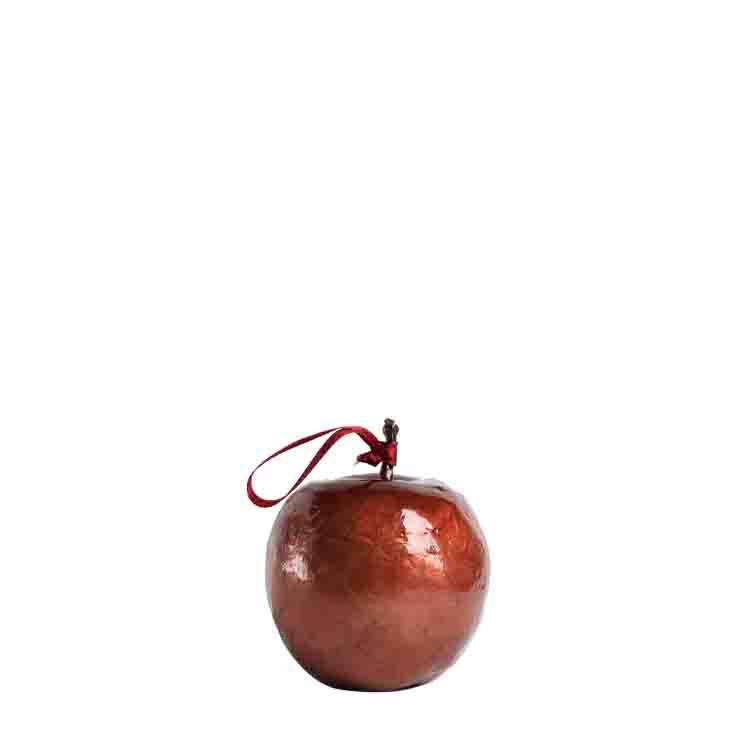 Mela madreperla rossa h8.5 cm