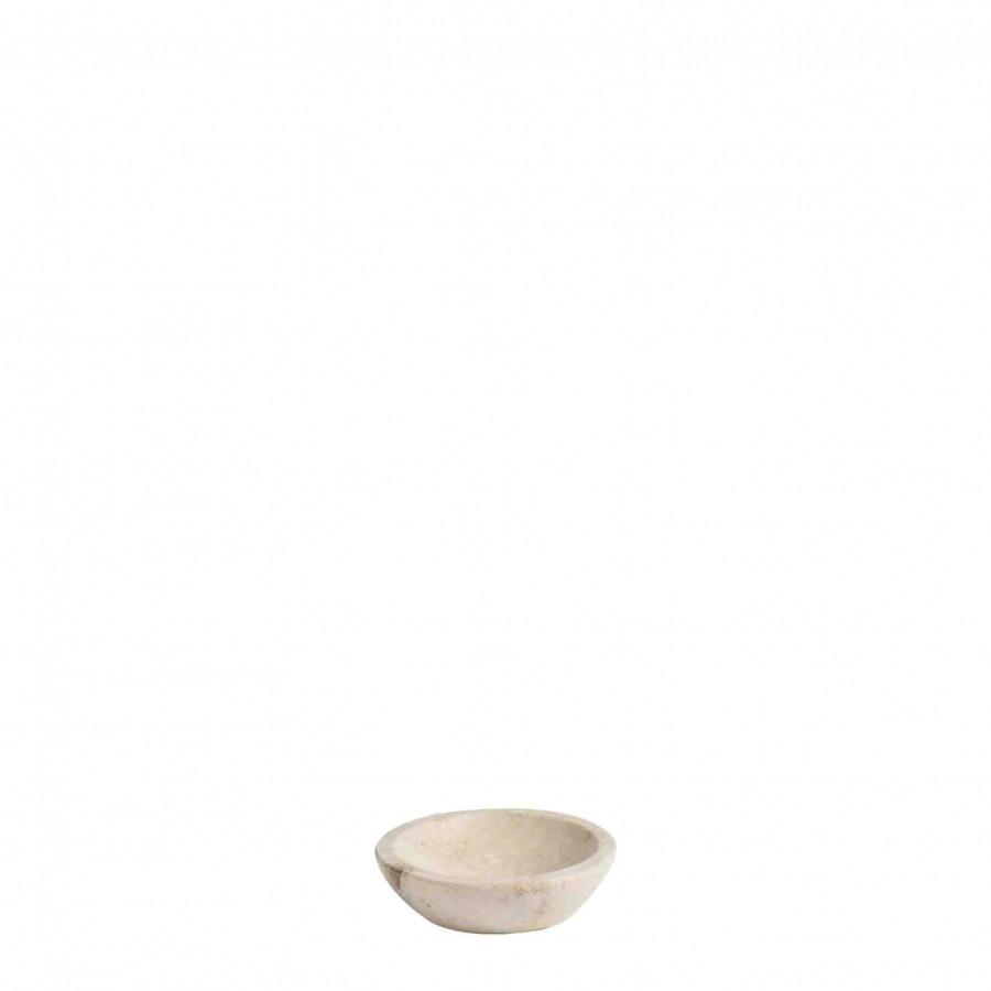 Portasapone pietra chiara tondo d10 cm