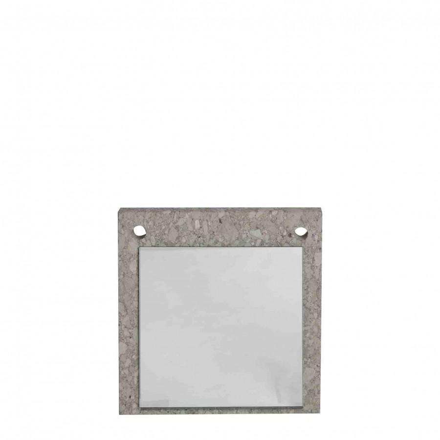 Specchio su tavoletta di pietra 25 x 25 cm